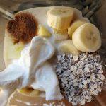 Υλικά για smoothie ανανά με μπανάνα