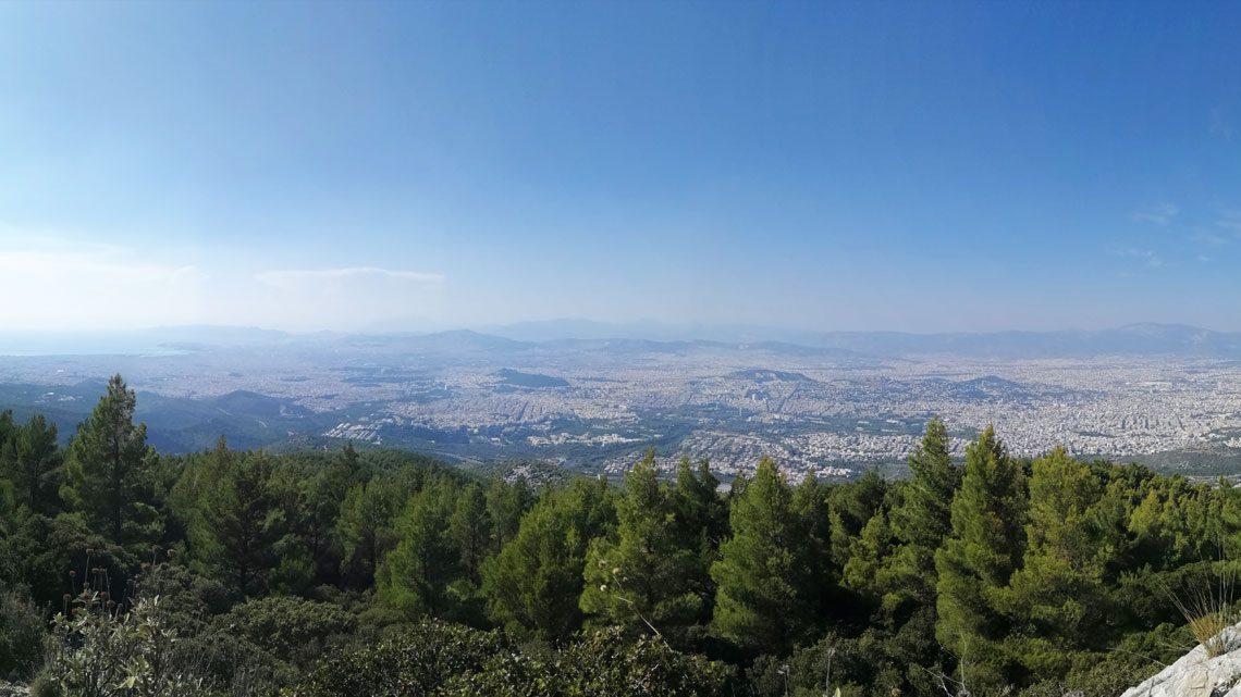 Υμηττός θέα Βουνό Κορυφή